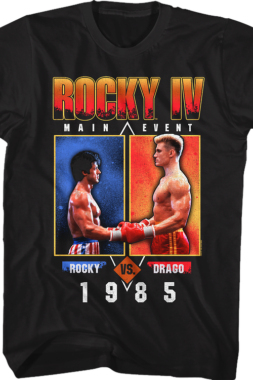 1985 Main Event Rocky vs Drago Rocky IV T-Shirt