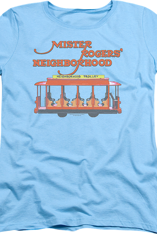 Womens Trolley Mr. Rogers Shirt
