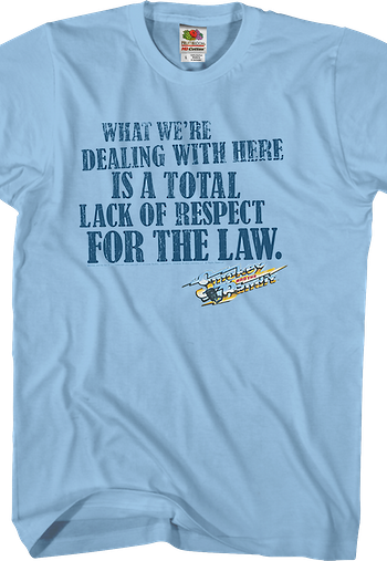 Smokey and the Bandit Respect Shirt