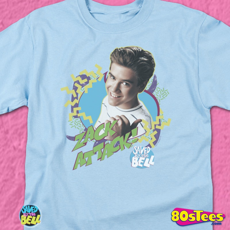 Zack Attack Shirt: Saved By The Bell Mens T-Shirt