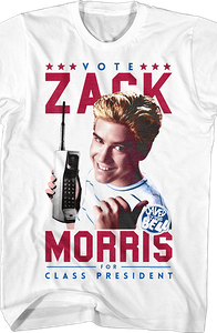 Zack Morris For Class President Saved By The Bell T-Shirt