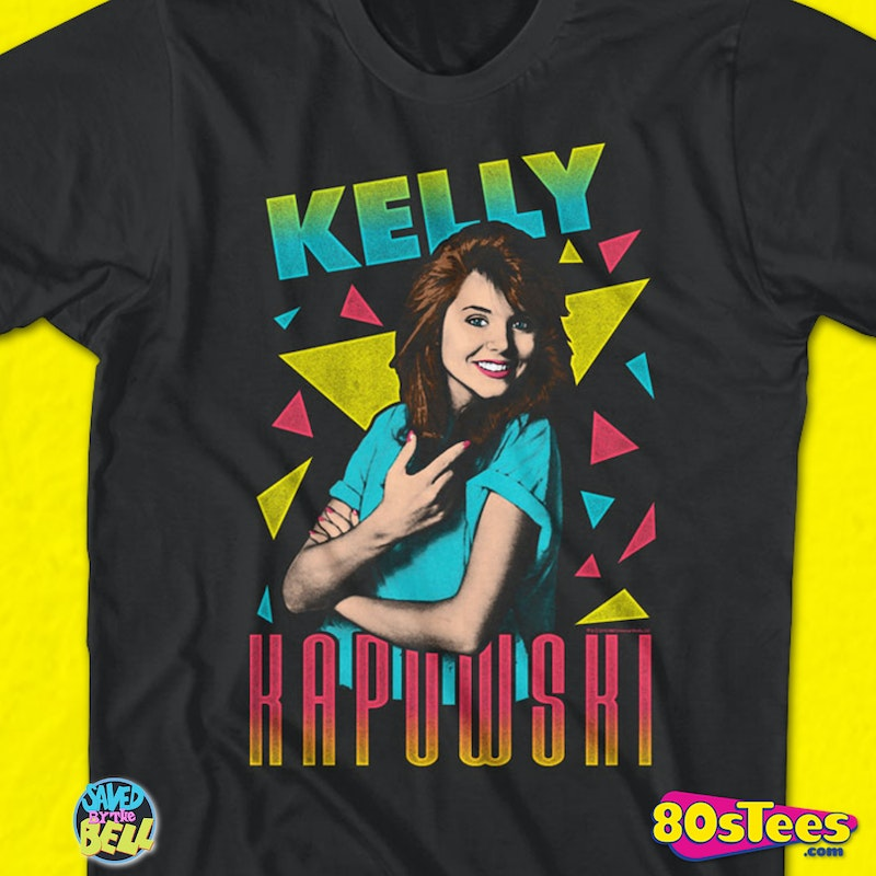 Triangles Kelly Kapowski Saved By The Bell T-Shirt