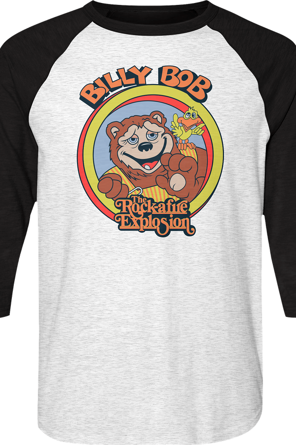 Billy Bob Rock-afire Explosion Raglan Baseball Shirt