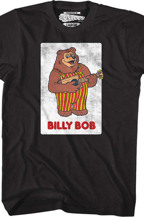 Rock-afire Explosion Bandleader Billy Bob Showbiz Pizza Place T-Shirt