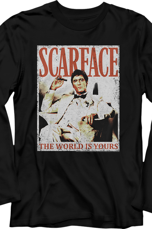 The World Is Yours Scarface Long Sleeve Shirt