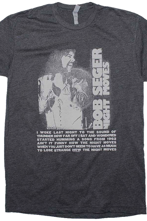 Night Moves Bob Seger T-Shirt