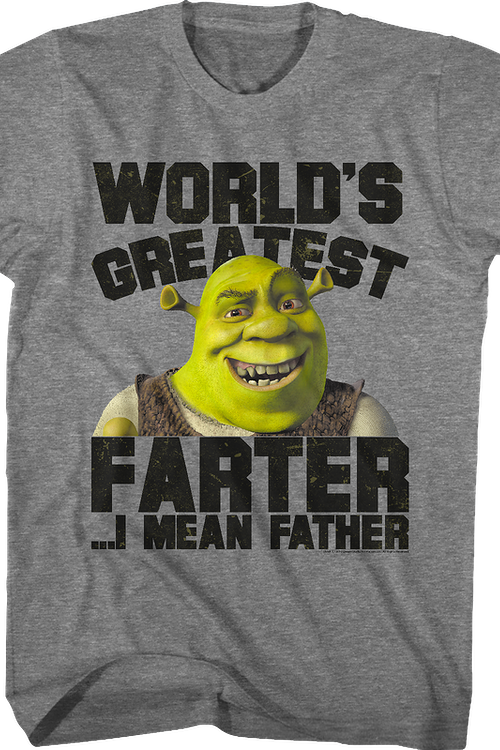 World's Greatest Father Shrek T-Shirt