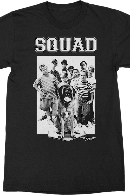Black and White Squad Sandlot T-Shirt