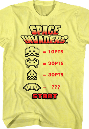 Points Space Invaders T-Shirt