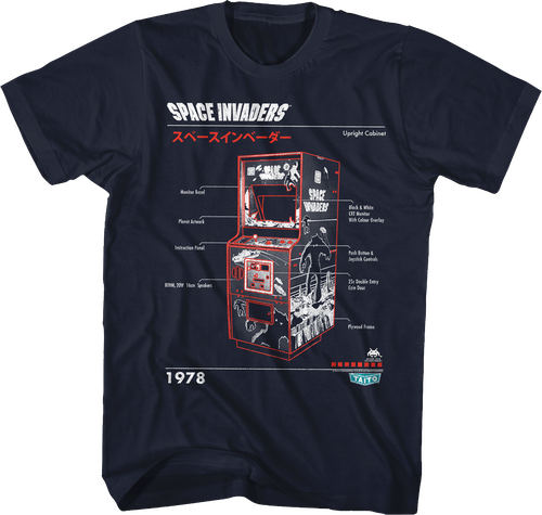Instructions Space Invaders T Shirt