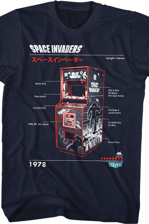 Instructions Space Invaders T-Shirt