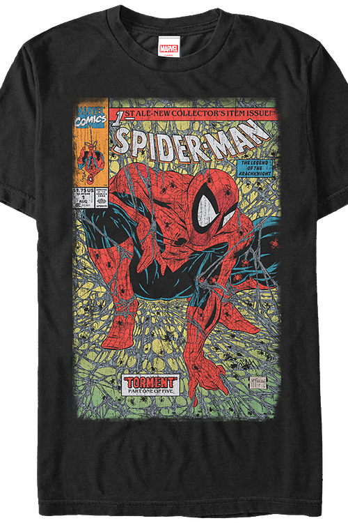 fd0620ca Spider-Man Torment Comic Cover T-Shirt: Spider-Man Mens T-Shirt