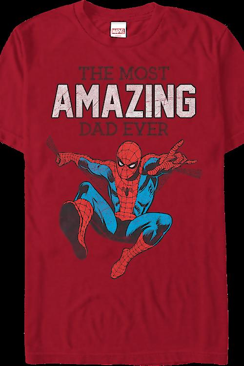 c6d488ffed4e68 Amazing Dad Spider-Man T-Shirt: Marvel Comics Mens T-Shirt