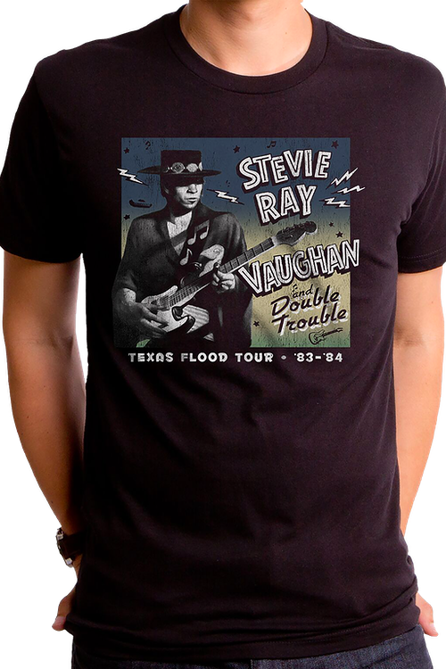 Texas Flood Tour Stevie Ray Vaughan T-Shirt