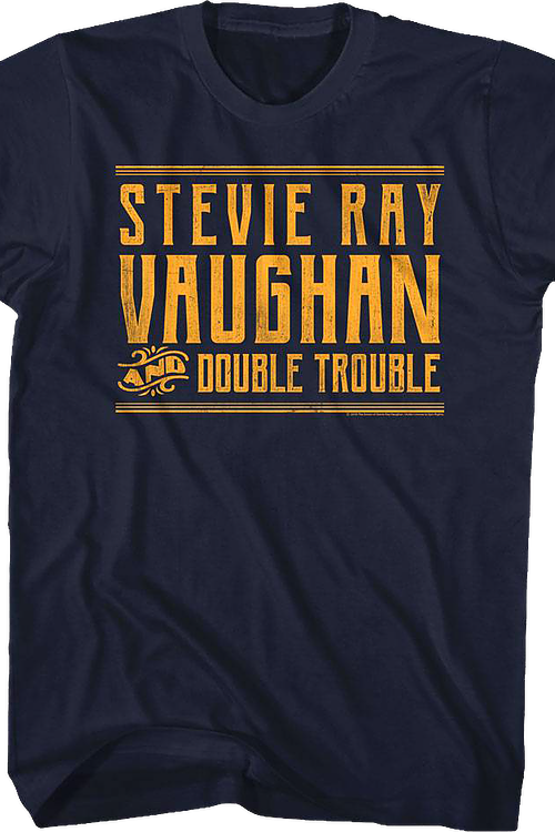 Distressed Stevie Ray Vaughan and Double Trouble T-Shirt