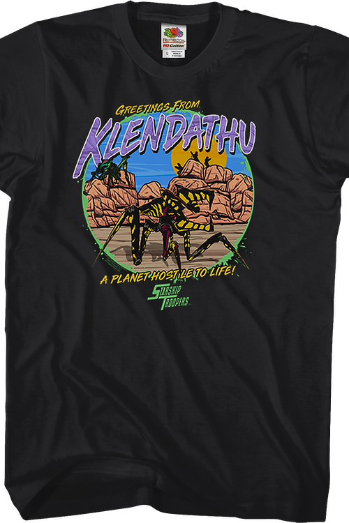 Greetings From Klendathu Starship Troopers T-Shirt