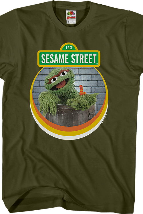 Slimey and Oscar The Grouch Sesame Street T-Shirt