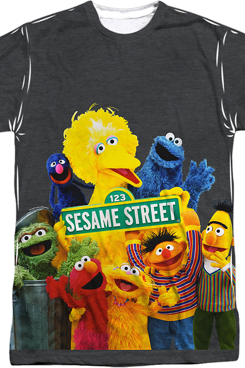 82b433e8 Cast Sesame Street T-Shirt: Sesame Street Mens T-Shirt