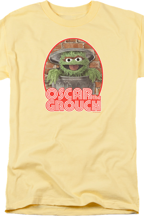 Retro Oscar The Grouch Sesame Street Shirt