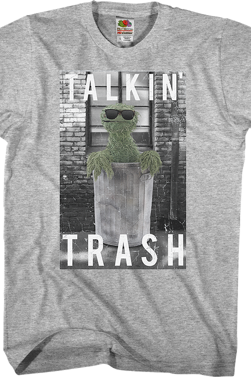 Oscar The Grouch Talkin' Trash Sesame Street T-Shirt
