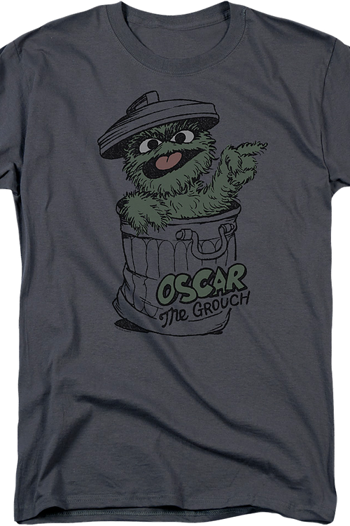 Oscar The Grouch Charcoal Sesame Street T-Shirt