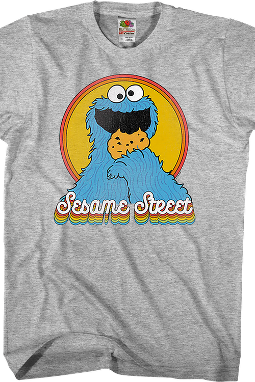 Retro Cookie Monster Sesame Street T-Shirt