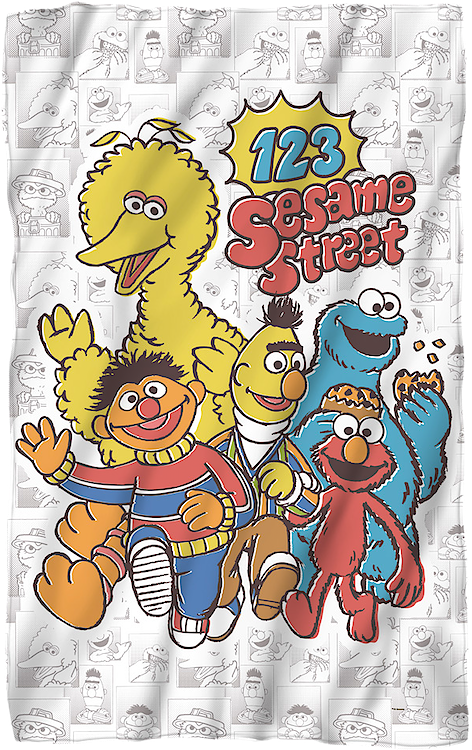Sesame Street 36 x 58 Fleece Blanket