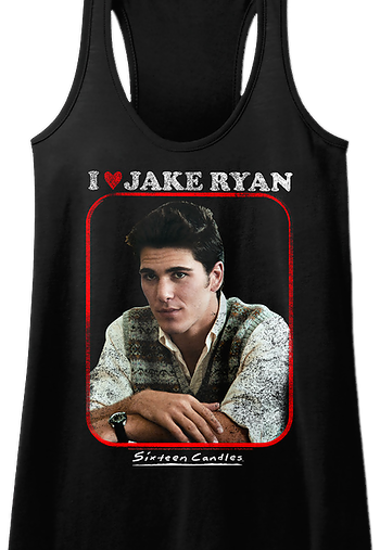 I Love Jake Ryan Sixteen Candles Racerback Tank Top