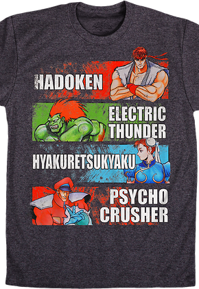 Street Fighter Special Moves T-Shirt
