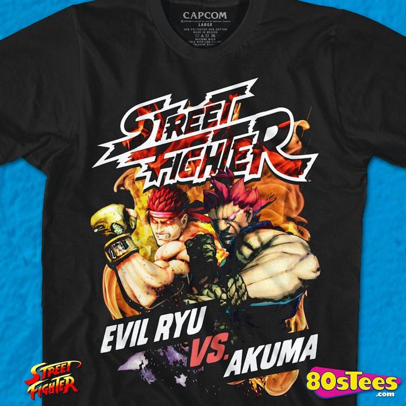 Evil Ryu Vs Akuma Street Fighter T Shirt