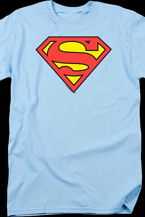 e0ee7cfe4050e3 DC Comics Light Blue Superman Logo Men s T-Shirt
