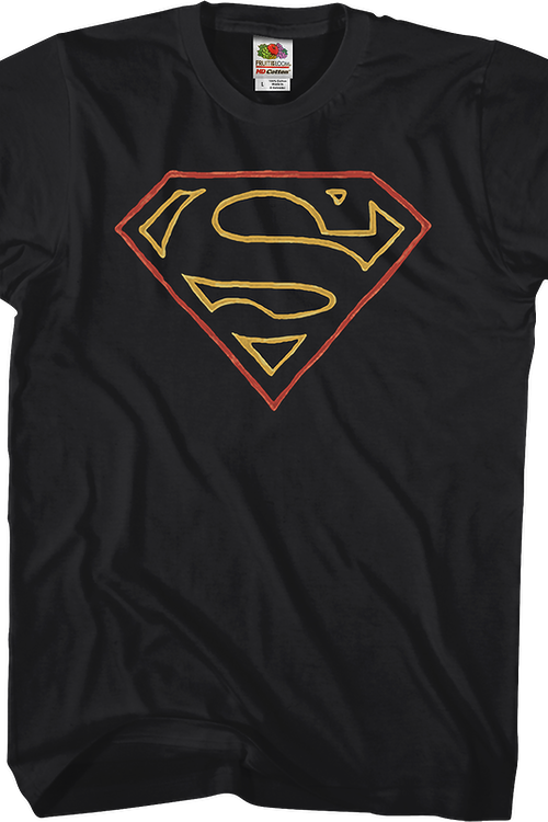 Outlined Superman Logo T-Shirt