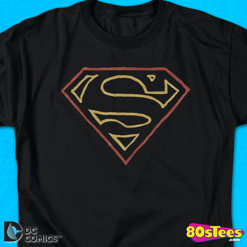 4ad007e5 Outlined Superman Logo T-Shirt DC Comics
