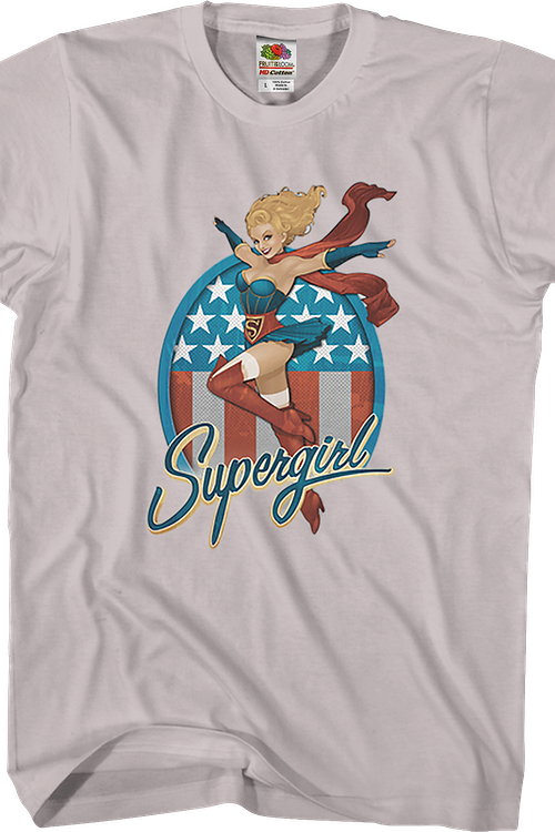 Red White and Blue Supergirl T-Shirt