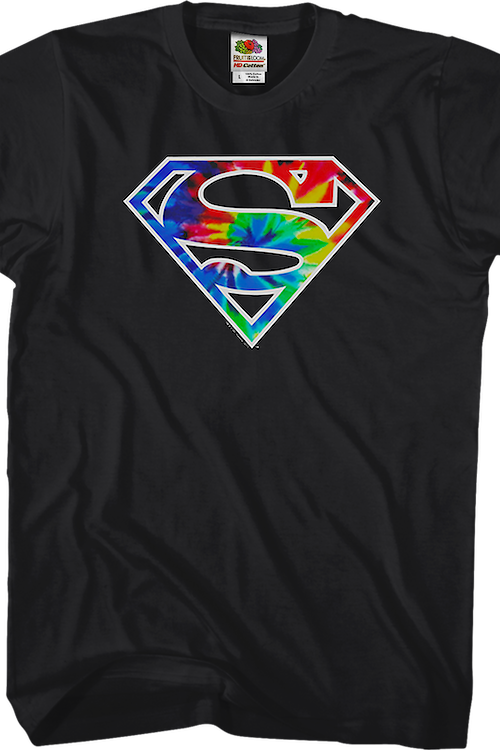 Tie Dyed Logo Superman T-Shirt