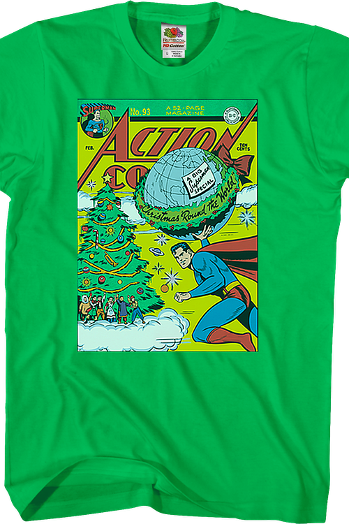 Christmas 'Round The World Superman T-Shirt