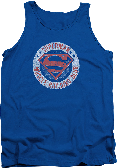 Superman Muscle Building Club Tank Top