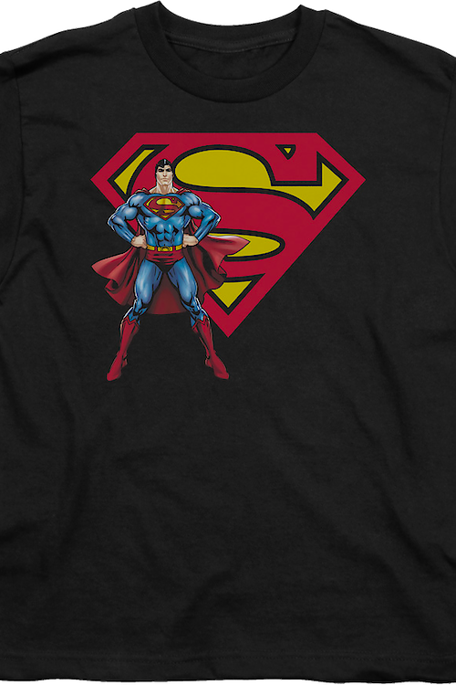 Youth Superman With Logo DC Comics Shirt