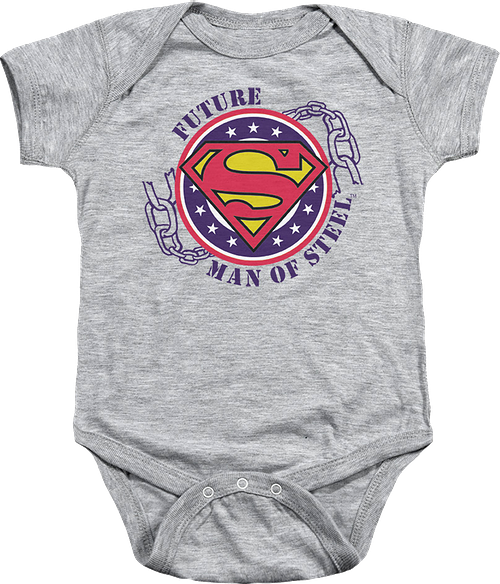 Future Man Of Steel Superman Infant Snapsuit