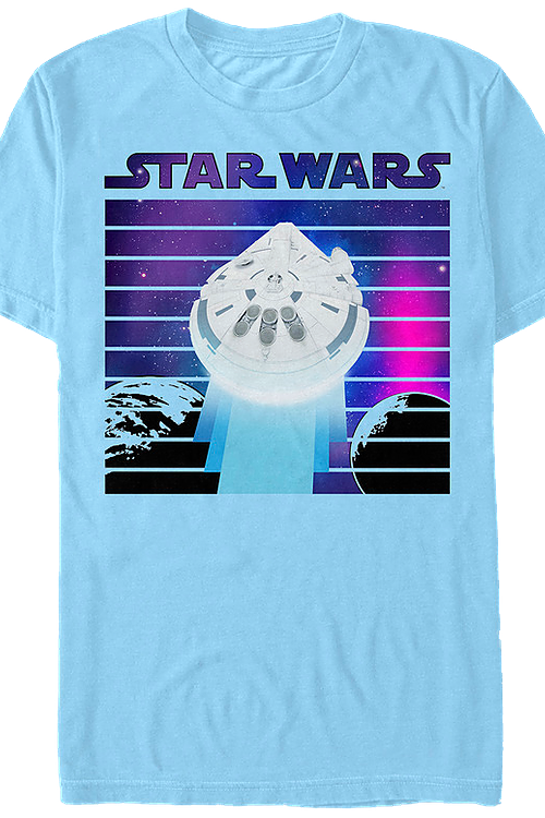 Retro Millennium Falcon Solo Star Wars T-Shirt