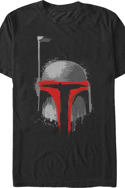 Paint Splatter Boba Fett Star Wars T-Shirt