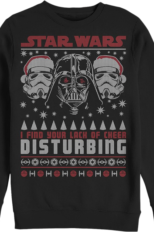 Faux Ugly Lack of Cheer Star Wars Christmas Sweater