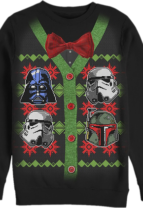Galactic Empire Faux Ugly Star Wars Button Up Sweater