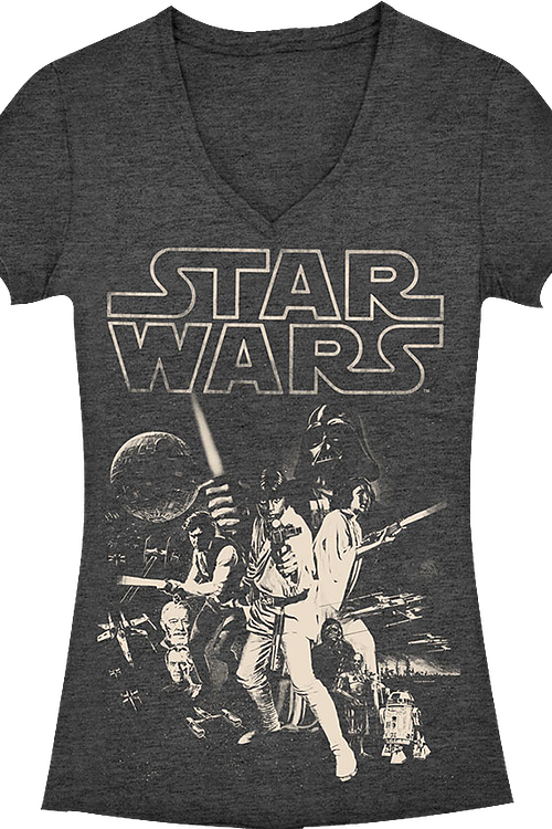 dead6a617 Star Wars V-Neck Shirt: 80s Movies Star Wars T-shirt