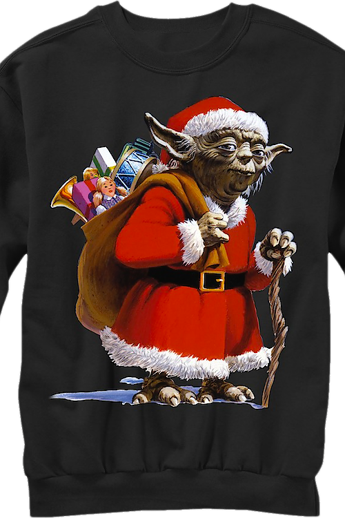 a97720c39cb Star Wars Yoda Dressed as Santa Claus Ugly Faux Christmas Sweater