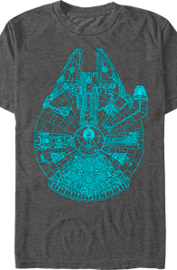 Charcoal Millennium Falcon Shirt
