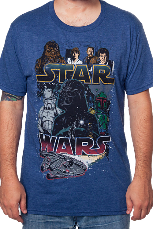 Star Wars Heroes And Villains T-Shirt