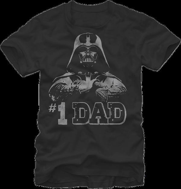 Mens Fathers Day Vader Pop Art T-Shirt Star Wars