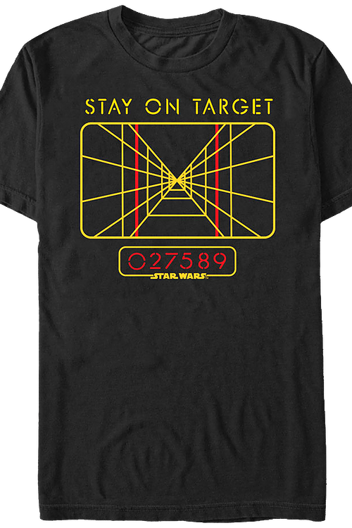 104725ea2 Star Wars Stay On Target T-Shirt: Star Wars Mens T-Shirt