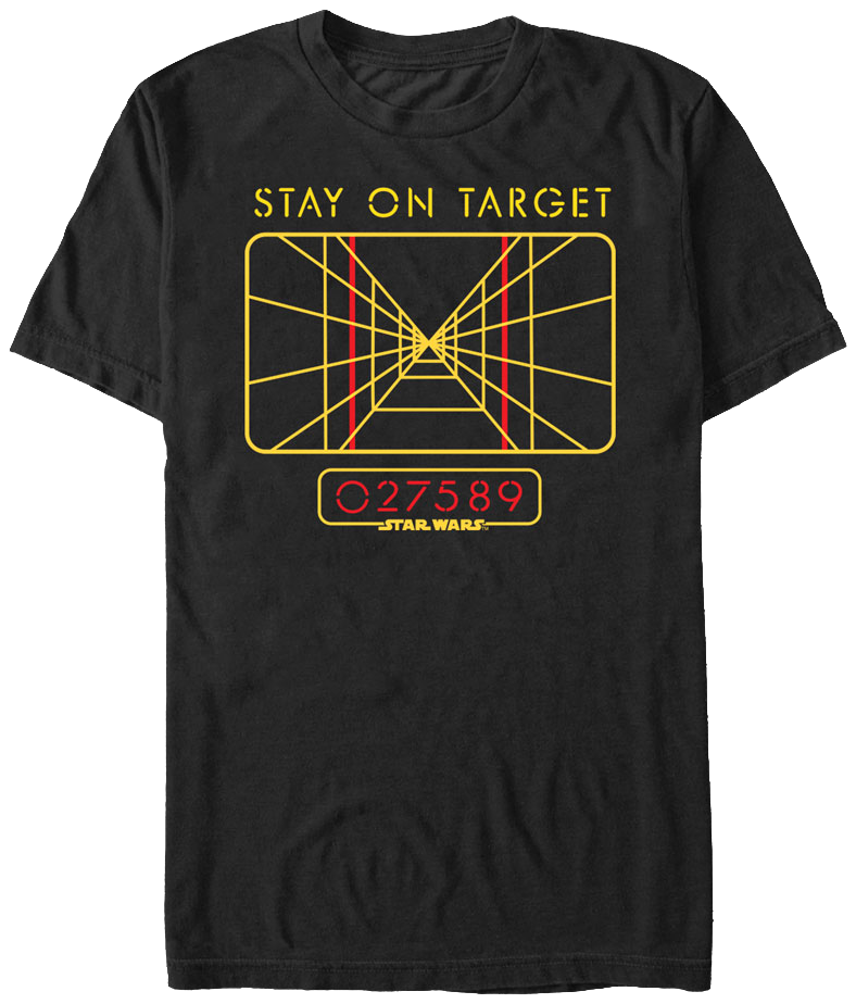 Star Wars Stay On Target T-Shirt  sc 1 st  80s Tees : target mens halloween costumes  - Germanpascual.Com